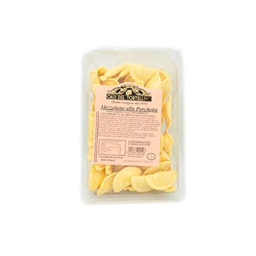 Fa.Lu.Cioli 1917- 2x 500g Mezzelune alla Porchetta di Ariccia IGP (1Kg) - Pasta fresca all'uovo ripiena di Porchetta di Ariccia IGP