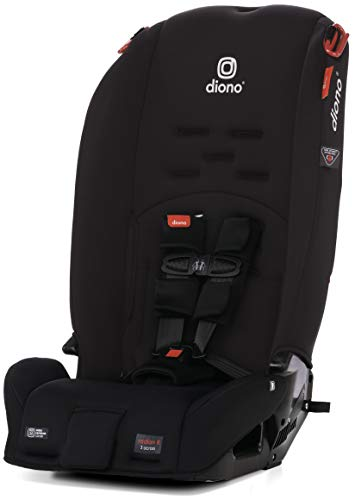 Diono Radian 3R, 3-in-1 Convertible Rear & Forward Facing Convertible Car Seat, High-Back Booster, 10 Years 1 Car Seat, Slim Design - Fits 3 Across, Black Jet