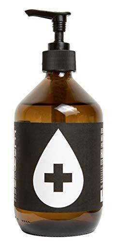 HEIMAT Hand Desinfektionsmittel 500ml mit ätherischen Öle wie Lavendel, Wacholder, Thymian, sanfte Reinigung, WHO-Zertifizierung - nachhaltige Glasflasche zum Wiederbefüllen