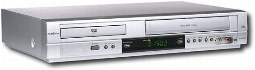 Insignia Progressive-scan DVD Player with 4-head Hi-fi VCR Is-dvd040924a