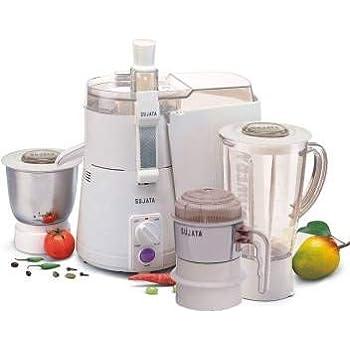 SUJATA Plastic Powermatic Plus 3 Jar-Juicer Mixer Grinder with Chutney Jar (White)