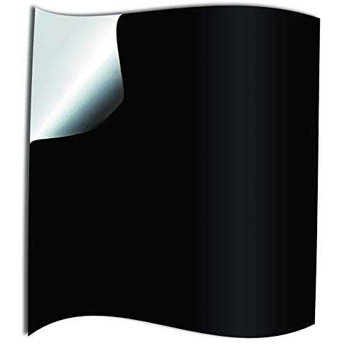 50 Pz Nero Adesivi per Piastrelle Formato 15 x 15cm Cucina Adesivi per Piastrelle per Bagno Cucina adesivi - Coperture per piastrelle in vinile piatto stampato in 2D sottile