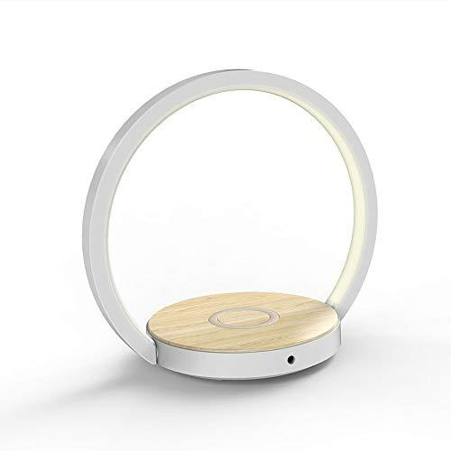 Sebasty Creativa LED De La Lámpara De Cabecera De Plegado De Carga Inalámbrica del Teléfono Móvil De La Lámpara De Aprendizaje Lámpara De Escritorio LED Bonita Y Práctica