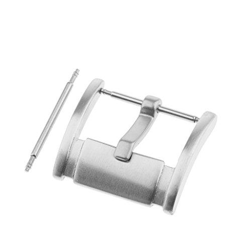 MagiDeal Boucle de Montre en Acier Inoxydable Satin Anti Trace Anti-Rouille 18mm/20mm/22mm avec Ardillon - Argent, 22mm