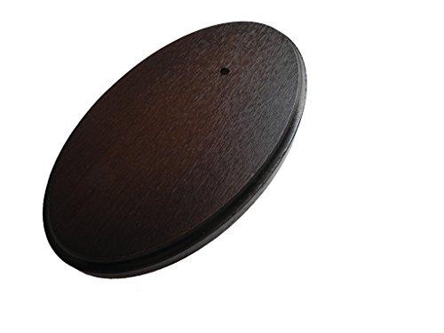 Trofeo placa ovalada roble oscuro