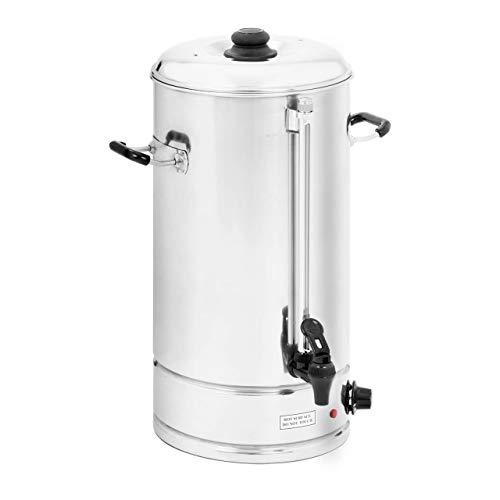 Royal Catering - Wasserkocher Heißwasserspender (20 Liter, ca. 119 Tassen, 33,8 x 38 x 54 cm, 2.500 W, 100 °C, Edelstahl) Silber