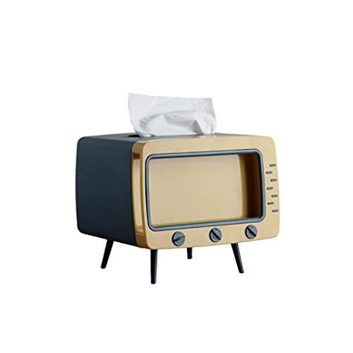 Caja de Pañuelos Tenedor de la caja de tejido Cubierta de la caja del tejido de la TV con la tarjeta de la tarjeta del teléfono Soporte de la caja del tejido facial para la cocina del dormitorio de la