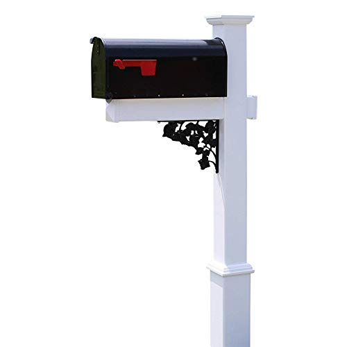 4Ever Products The Rodgers Vinyl/PVC Mailbox Post (Includes Mailbox)