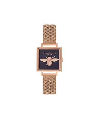 Olivia Burton Damen Analog Quarz Uhr mit Edelstahl Armband OB16AM96