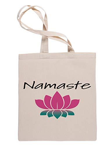 Namaste Lotus Bolsa Fe Compras Reutilizable Reusable Tote Shopping Bag