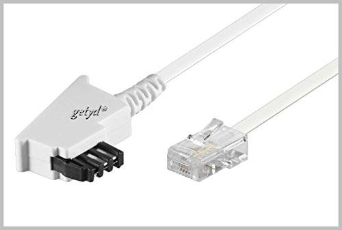 getyd® 15m TAE RJ45 DSL VDSL Internet Kabel - weiß - für Fritz Box/Speedport WLAN Voip Router IP Anschlußkabel