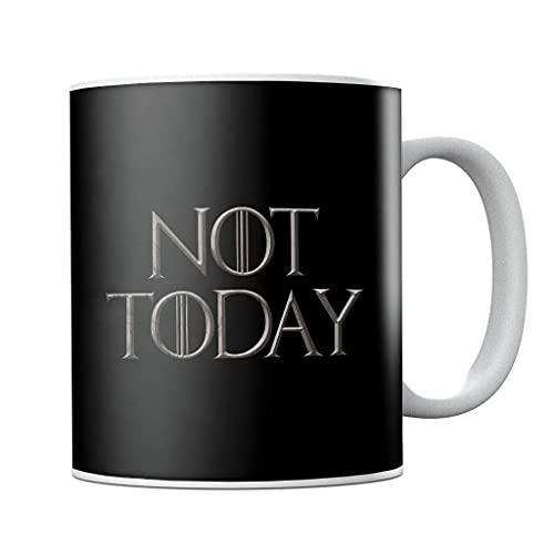 Juego de Tronos Arya Stark Not Today - Taza de café de cerámica para regalo de cumpleaños