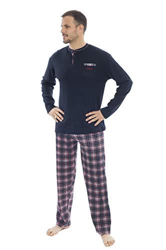 MUSLHER Pijama con Cuadro escocés (M, X)