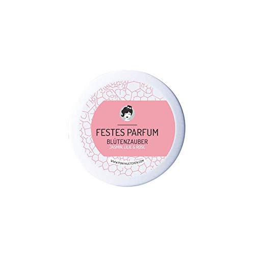 PonyHütchen Naturkosmetik festes Parfüm Blütenzauber - Cremeparfüm ohne ALKOHOL - fruchtig-herber Duft - allergenfrei - 12 ml - handgemacht - vegan - BIO