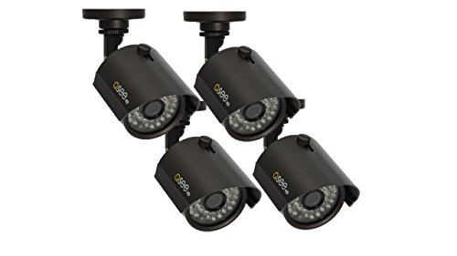 Q-See QTH7211B-4 | Four Analog HD Bullet Security Cameras with 720p HD | Weatherproof Surveillance System with Night Vision up to 100 Ft | Limited 2 Year Warranty | Black