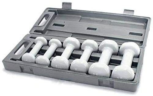 Generic ardwear in A N A Hard Lot d'haltères en Plastique résistant avec étui 6 kg