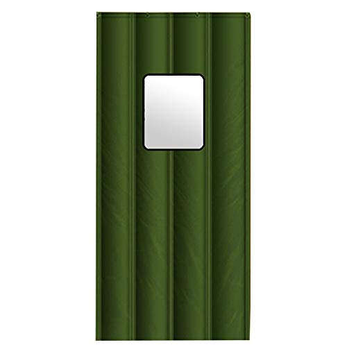 CAIJUN-Cortina de puerta Plegable Esponja De Relleno Ventana Transparente Impermeable Mantener Caliente, 3 Estilos, 24 Tallas (Color : B, Tamaño : 90x200cm)