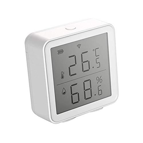 Jueves Sensore di Temperatura e umidità WiFi Intelligente, Display LCD Non Teme la Retroilluminazione, Registrazione della Data, Casa/Serra/Cantina/Garage/Cantinetta Usati Insieme