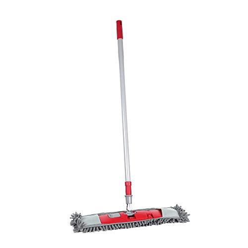 Maury's Mop Ciniglia Scopa Cattura Polvere Leva Polvere Lava Pavimenti con Bastone Allungabile da 65 cm ad Un Massimo di 125 cm Colori Assortiti