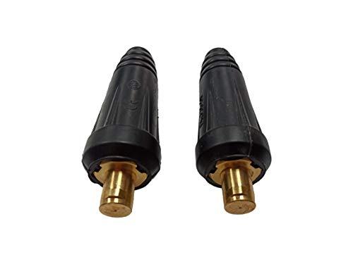 ELCAN Conector rápido aéreo macho 35-50mm para cable soldadura DKZ35-50 o DKJ35-50 315A utilizado en máquinas de soldadura y corte como conexiones de potencia (2 unidades)