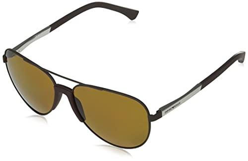 Emporio Armani EA2059-313283-61 - Gafas de sol para hombre, color marrón mate