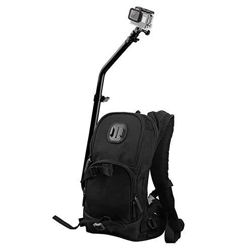 XYDBB Rugzak voor camera met snelmontage, sporttas voor 7/6/5/4/3+/3-camera, actiecamera voor fiets, Blanco Y Gris (zwart) - XYDBB-AE50