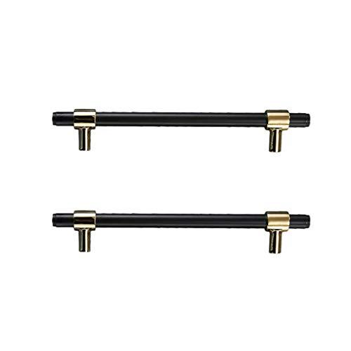 Schranktür Kupfer-Griff, schwarz Schubladenschrank Griff Lengthen Griff Kreative Schuhschrank Metallgriff, A, XXL GAGGE (Color : A, Size : XLarge)