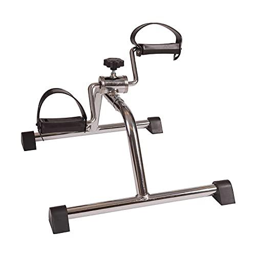 NAOKEY Ejercitador de Pedal de Pierna Portátil, Mini Ejercicio Bicicleta Brazo Y Pata de Resistencia A La Resistencia Ajustable(Color:B)
