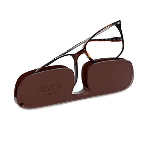 Nooz Optics - Lesebrille - Essential Bao - Rechteckige Form - Ultra leichtee Nylonrahmen - Ultra-kompaktes Etui für den täglichen Gebrauch - 6 Farben - Männer und Frauen.