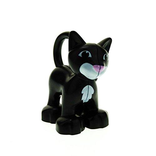 1 x Lego Duplo Tier Katze schwarz weiß Cat Kater Zoo Bauernhof Safari Markt 5683 dupcat1pb02
