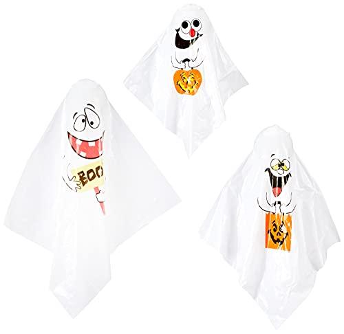 Unique Party - Decoraciones Colgantes de Fantasmas de Halloween - Paquete de 3 (88048)