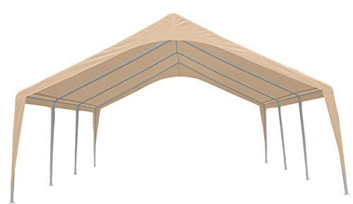 Impact Canopy 20 x 20 x 12 Event Canopy Tent, Impact Canopies Portable Carport Wedding Party Outdoor Gazebo Shelter, 8 Leg, White