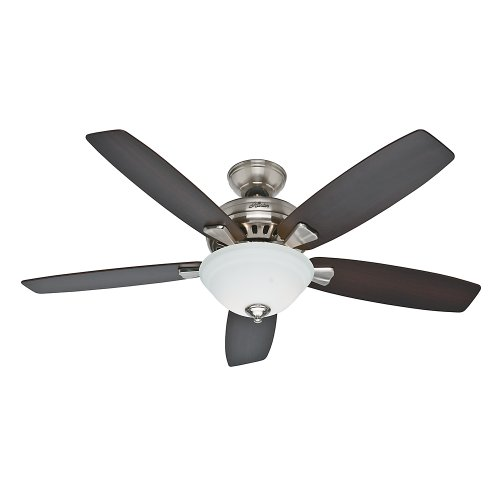 Hunter Indoor Ceiling Fan with light and pull chain control - Banyan 52 inch, Brushed Nickel, 53175 Ceiling Fans