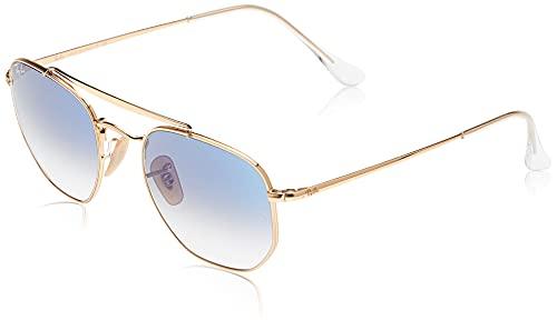 Ray-Ban 0rb3648 001/3f 54 Occhiali da Sole, Oro (Gold/Clear Gradient Blue), One Size Unisex-Adulto