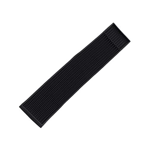 Alfombrilla de bar, material de goma rectangular Alfombrilla de goteo de vidrio antideslizante Mantel individual impermeable para accesorios de barra de café