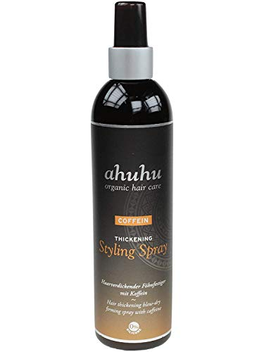 ahuhu organic hair care Coffein Styling Spray 200ml - Fönfestiger mit Coffein und Reisstärke