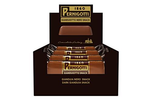 Pernigotti, Barretta Gianduiotto Nero, Snack di Cioccolato alle nocciole gianduia (cacao: 35% min.), Senza Olio di Palma, Senza Glutine, 21 Pezzi x 40 gr (0.84 kg)