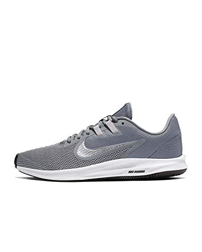 Nike Women's Downshifter 9 Running Shoe, Cool Grey/Metallic Silver-Wolf Grey, 8 Regular US