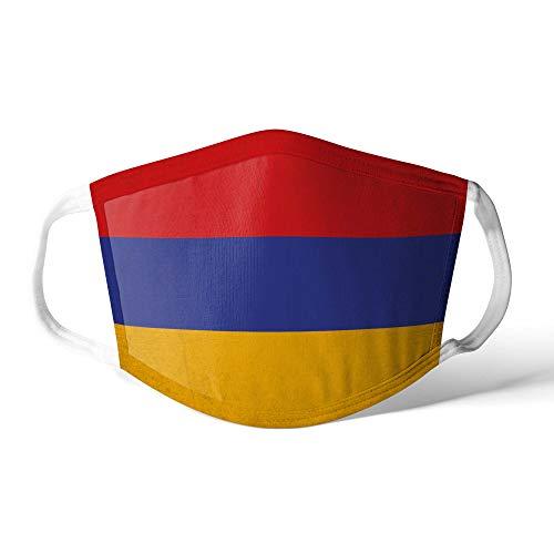 M&schutz Maske Stoffmaske Groß Asien Flagge Armenien/Armenisch Wiederverwendbar Waschbar Weiches Baumwollgefühl Polyester Fabrik