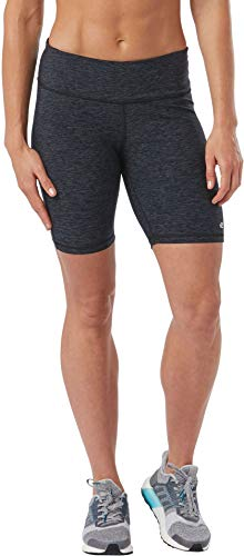 R-Gear Women's 8-Inch Compression Shorts with Pockets for Running, Exercise or Base Layer | Recharge, Charcoal/Black, S