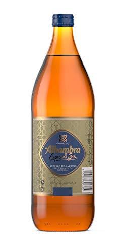 Alhambra Especial Cerveza Dorada, 0.75% Volumen de Alcohol - Botella 1 L