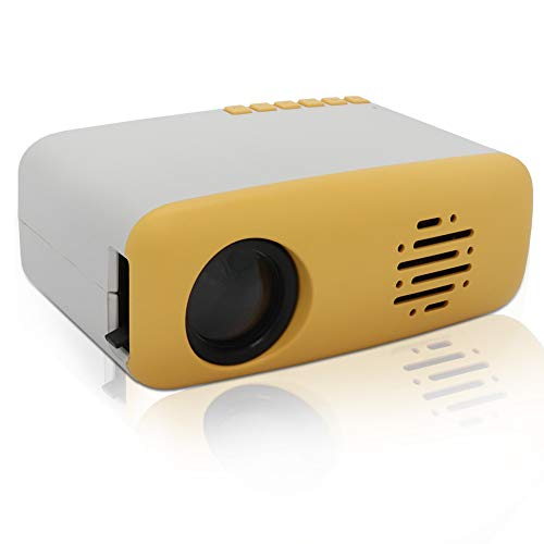 MERLINAE Kids Projector,Mini Pocket Projector,Portable Video Projector Multimedia Home Theater Movie Projector Compatible with TV Stick,Surport 1080P HDMI,USB,AV,Laptop for Children Gift Yellow