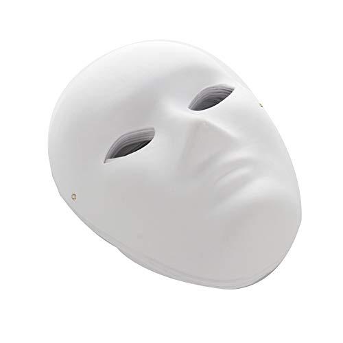 JYCRA DIY weiße Maske, 12 Stück lackierbare Papiermasken, Maskenmaske, einfarbige Maske, Cosplay-Maske für Halloween, Karneval, Partys (6 Männer + 6 Frauen)