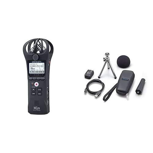 ZOOM H-1n/220GE Handy Recorder – Audio Aufnahmegerät & APH-1n/GE Zubehör-Paket