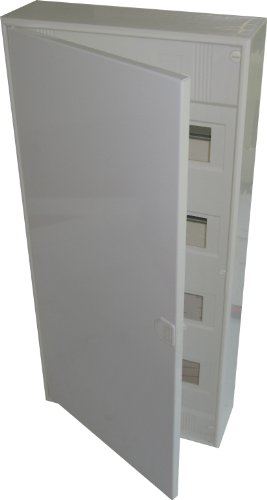 Aufputzverteiler 4-reihig für 48+8 Module mit Steckklemmen PEN und Metalltür