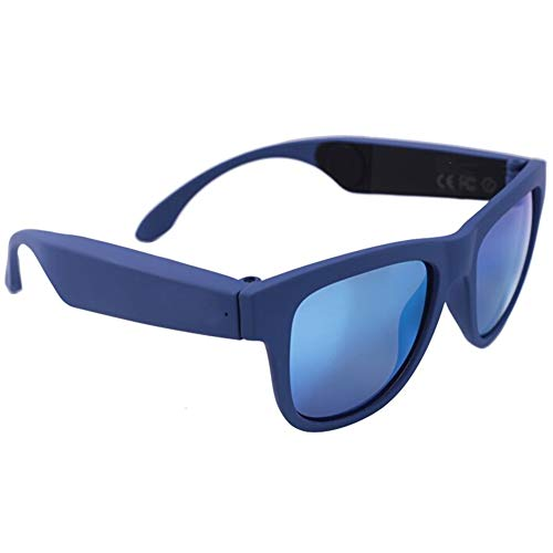 Alivier Gafas de Sol Inteligentes inalámbricas Bluetooth de conducción ósea Auriculares de música de Oreja Abierta Auriculares estéreo para teléfonos Inteligentes Tableta