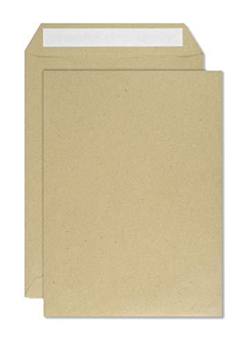 500 braune DIN C5 Versandtaschen 162x229 mm gerade Klappe Haftklebung ohne Fenster 80g Briefumschläge C5 braun Briefkuverts C5 braune Geschäfts-Umschläge