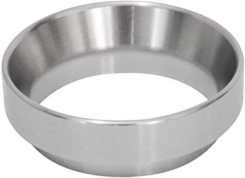 NELAHSHA 58mm Kaffeedosierring Silber Kaffee Dosierring Espresso Dosiertrichter aus Aluminiumlegieierung Dosiertrichter Kompatibel mit Siebträger Espresso Trichter für Kaffeemaschine