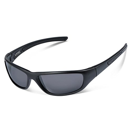 Gafas de sol polarizadas, LATEC Gafas de sol deportivas para Unisex con 100% de protección UVA & Protección UV400, Marco irrompible TR90 para deportes al aire libre Ciclismo Pesca Golf Esquí Vela Correr Caminar Conducir Acampar