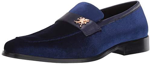 STACY ADAMS Men's Bellino Velour Slip-On Loafer, Royal, 12 Medium US
